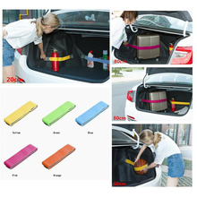 Elastic Car Trunk Organizer Stowage Harness On Velcro Fixed Different Cars Colour Yellow Blue Pink Green Orange(China)