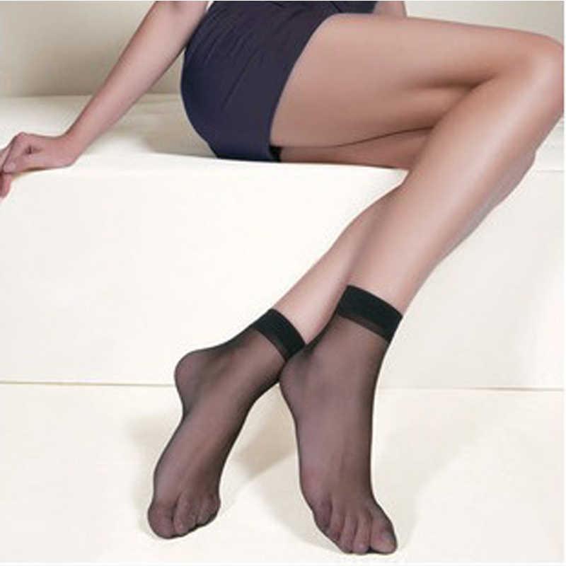 0b9ba8b767b 20Pairs Women Summer Sexy Ultrathin Transparent Crystal Silk Socks For  Woman Female Elastic Nylon Skin Short