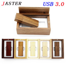 JASTER Photography Customer LOGO wooden usb + gift box usb flash drive usb 3.0 wood pendrive 8GB 16GB 32GB wedding gifts