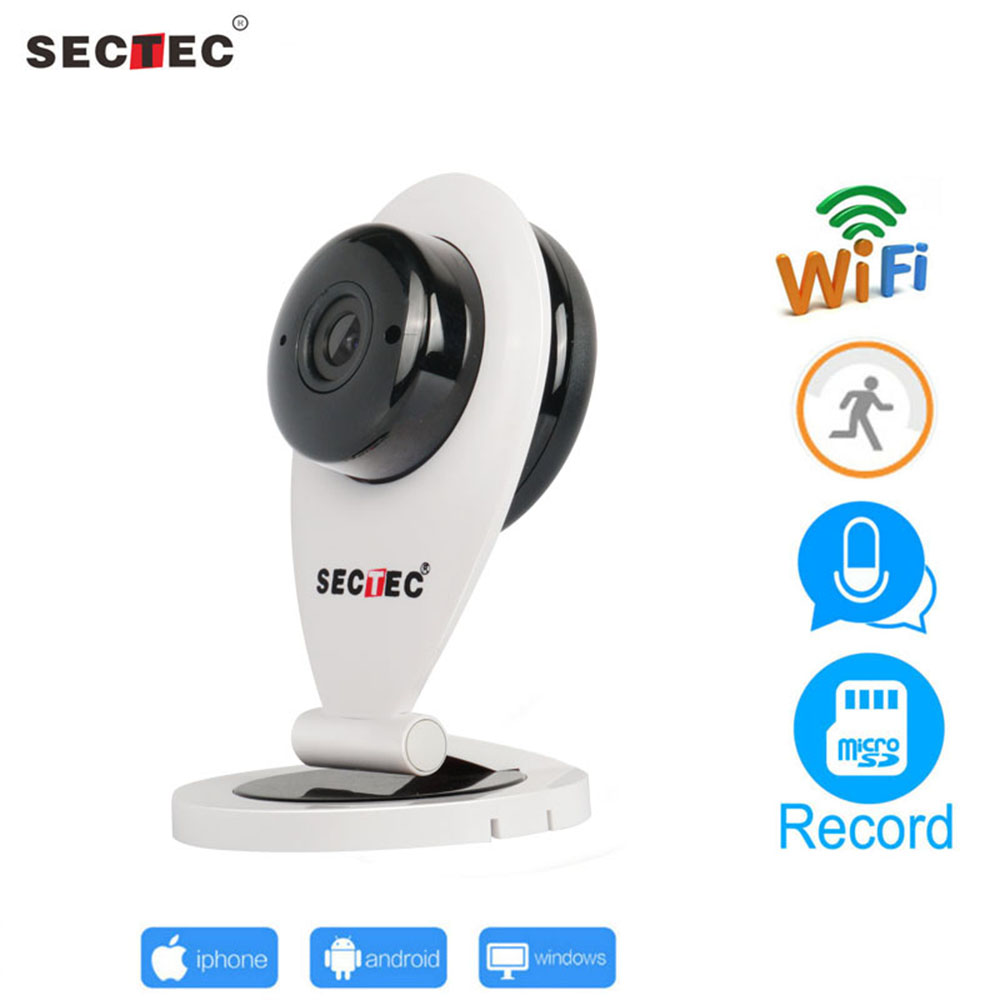SECTEC HD 720P WIFI IP Camera Mini Wireless P2P Home Security Camera Night Vision Network CCTV Cam Baby Monitor<br>