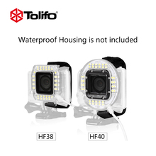 Tolifo HF38 and HF40 Small Size Led Action Camera Fill-in Light Work Directly with Power Bank for Gopro Hero Hero 3