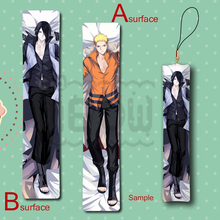 Hot NARUTO Sasuke & Naruto Cool Anime Mini Dakimakura Keychain Pillow Hanging Ornament Decoration Phone Strap
