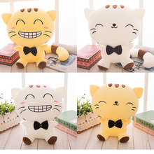 Free shipping 50cm Lovely Big Face Smiling Cat Stuffed Plush pillow Toys Soft Animal Dolls Birthday/Valentine's Day Gifts