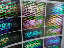 Customize Hologram stickers- sliver color material- counterfeit -one time use sticker printing(China)