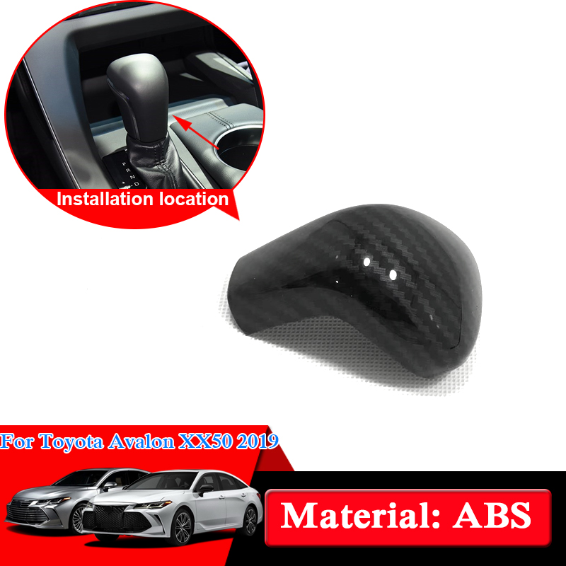 for toyota Avalon 2019 Carbon Fiber Color Inner Gear Shift Knob Cover ABS