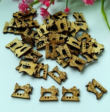 80PCs fashion bulk buttons Sewing Machine Randomly Mixed printing partterns Wooden Buttons for kid's clothing 17*23mm