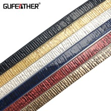 Buy GUFEATHER 5MM bamboo stripes leather cord/jewelry accessories/jewelry findings/diy accessories/jewelry making for $1.00 in AliExpress store