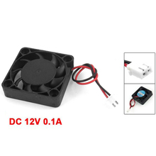 10 Pcs Wholesale DC 12V 0.1A 2 Pin PC Case CPU Cooler Cooling Fan 40mm x 40mm x 10mm(China)