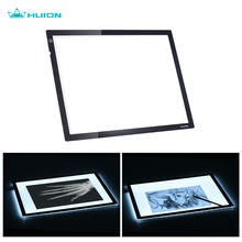 "HUION A3 21"" Portable Drawing Pad LED Light Tracing Drawing Table Graphic Pad Adjustable Brightness with Power Adapter EU Plug"