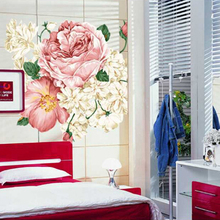 DIY Peony Flowers Top Quality Vinyl Art Mural Removable Wall Decals Sticker Papers Good Design For Home Room Decor Hot