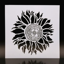 Sunflower Scrapbook Stamp DIY Tools Photo Album Card Masking Spray Stencil For Walls Painting Embossing Paper Crafts