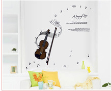DIY 3D Wall Art Violin Music Notes Wall Decals Vinyl Wall Sticker Quotes Kids Children Room Decoration Adesivo De Parede Posters