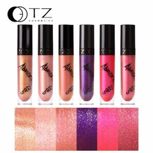 Shimmer Metal Lip Gloss Lip Tint liquid lipstick lip kit For Cosmetic Batom Make Up Lip Gloss In 6 Colors Long Lasting