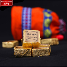 200g Health Care Chinese Yunnan Puer Tea 2003 Pu'er Brick Lose Weight Ethnic Bag Packaging Puerh Tea Hot sale Chinese Famous Tea