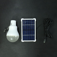 Outdoor/Indoor Solar Powered led Lighting System Light Lamp LED Bulb solar panel Low-power camp travel used Garden Lighting 15W(China)