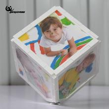 Rotated 6 Face Cube Photo Frame Magic Square Frame Holder Desktop Frame Home Decor