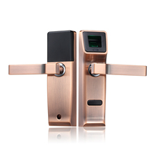 Biometric Electronic Door Lock Fingerprint, Mechanical Key Digital Keyless Lock Smart Entry Zinc Alloy lk904RC