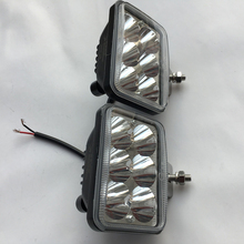 "2PCS 3"" Square Pickup truck Led spotlights 18W High power Offroad Car fog light lamp 9-80V Tractor ATV UTV 4X4 Led working light(China)"