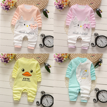 winter Newborn Baby girls Clothes 2017 cute Cartoon cotton baby Rompers baby Boys girls Clothes roupas de bebe baby clothes set