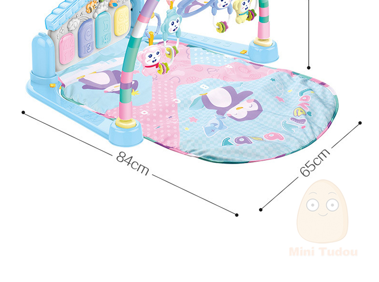 MiniTudou Baby Activity Play Mat Baby Gym Educational Fitness Frame Multi-bracket Baby Toys 0-12 Months Game Mats For Kids 12