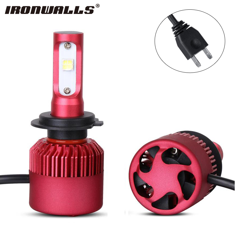 Ironwalls H7 Single Beam Car LED Headlight Bulbs 80W 9600lm 6500K CREE XHP50 Chips All in one Front Fog Light 12V 24V <br><br>Aliexpress