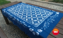 Bandhani Tie dye Unique Original Design Decorative Arts  / Handmade Table Cloth Many Uses / home decor free shipping Painting