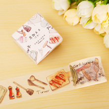 3cm*7m Dilicious Foods washi tape DIY decorative scrapbooking sticker planner masking adhesive tape label school supplies(China)