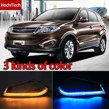 55% Discount!!!Quality Ultra-bright full Chrome plating for Chery Tiggo 5 2014-UP LED DRL with turn signals light Free Shipping