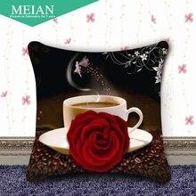 Штаты Coast печать вышивка крестиком Подушка Пара кофейная роза Вышивка крестом новый гостиная диванную подушку и(China)