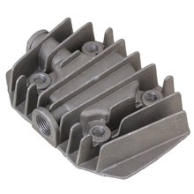 Gray Metal 15mm 3/8BSP Female Threaded Cylinder Head Air Compressor Spare Parts Hardware