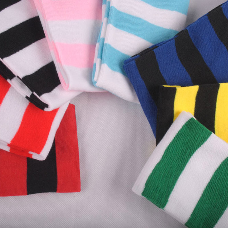 Polyester Fashion Stripe Beauty Tights, Stockings, Multicolor Knee-high Women Sweet Cute Girls Stockings 5