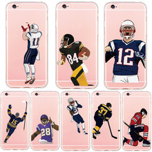 New Rugby ice hockey Baseball Sports Star Painted Phone Case Cover for iphone 5s SE 6 6s 7 Plus Back Cover Hard Plastic PC Case