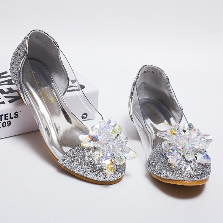 Girls Princess Shoes Girls Sandals Wedding Party Shoes Ball Dancing Shoes <br>