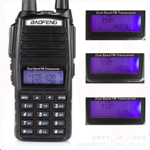 10 Km Baofeng Uv-82 Real 8W Baofeng With High Mid Low Power UV 82 Ham Radio Station amateur Portable Radio Walkie Talkie 10km(China)