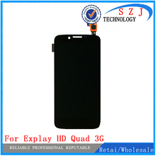 New For Explay HD Quad 3G LCD DisplayTouch Digitizer Assembly For Explay HD Quad 3G LCD Screen Display Free Shipping