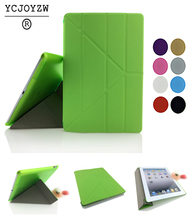 Free shipping PU Leather Slim Magnetic Front Smart  Auto Sleep Wake Cover Skin+Hard PC Back Case For Apple ipad 2 ipad 3 ipad 4