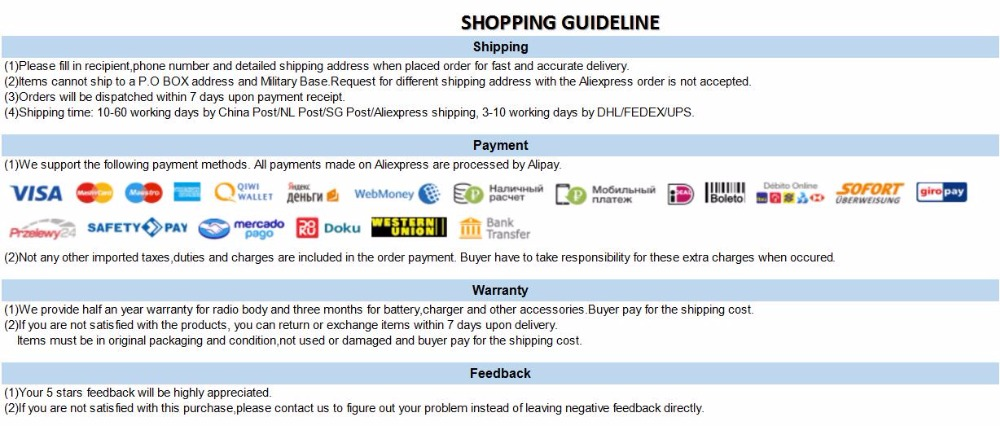 shopping guideline