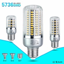 LED Bulb Lamp E27 E14 E12 85-265V SMD 5736 5W 10W 15W 20W 25W Light Bulbs Lampada LED Diode Lamps Energy Saving Lights for Home