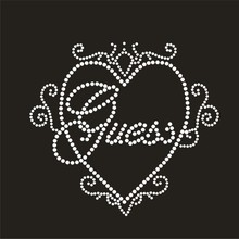 (2pc/lot) Guess designs iron on transfer hot fix rhinestone heat transfer design hot fix rhinestone pattern DIY Fancy strass