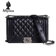 MYNOS Luxury Fashion Brand Designer Handbags Small Women Bags Ladies  Plaid Cover Big Crossbody Bags For Women SAC A MAIN Femme