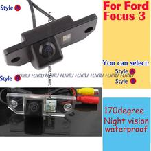 wired wireless Rear View Reverse Backup camera for Ford Focus 3 (3C) sedan Mondeo (2000-2007) C-Max (2007-2009) parking assist(China)