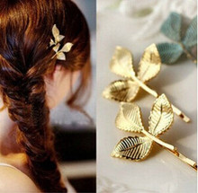 Lovely Fashion Three-dimensional Leaf Vintage Retro Hairpins CJWD35