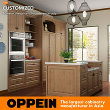 Indonesia Project Modern Wooden Kitchen Cabinets Customized Modular Kitchen Cabinets OP15-PP07(China)