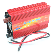 Car Inverter 2000W DC 12V~24V to AC 220V Power Inverter Adapter Vehicle motor Car Chargers Converter USB Free Shipping(China)