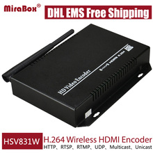 DHL EMS Free Shipping MPEG4 H.264 Wireless HDMI Encoder For IPTV/ONVIF/RTMP HD Video Encoder Live Stream Broadcast Media Server