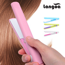 2017 New Mini icon Ceramic Electronic Hair Straighteners Dry Wet Straightening Irons Professional Curler Styling Tools EU Plug