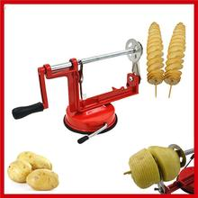 New Manual Spiral Potato Chips Cutting Machine Potato Twister Slicer Cutter Machine With Suction Cup(China)