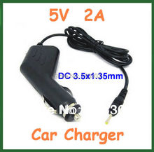 10pcs 5V 2A 3.5mm Car Charger for Ainol Novo 7 Crystal Fire Flame Aurora II ELF II Tablet PC etc Adapter(China)