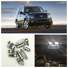 10pcs Xenon White LED Light Bulbs Interior Package Kit For Ford Expedition 1999 2000 2001 2002 Map License Plate Light Ford-B-22