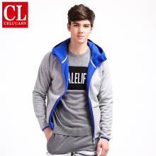Celucasn HALE LIFE Brand 2017 Mens Zipper Hoodies with Hat Cotton Sporting Coats Composite Flannel Fabric Jacket Wear H6QIZ303